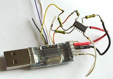 Фото временного монтажа для программирования МК
