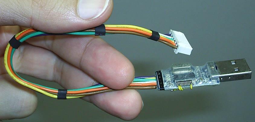 Фото самодельного внутрисхемного программатора