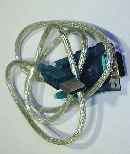 Фото конвертера USB-RS232TTL в виде шнура