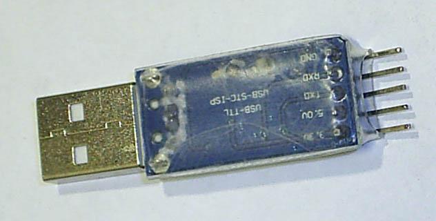 Фото2 конвертера USB-RS232TTL без корпуса
